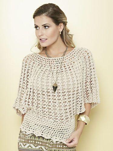Círculo Recetas Blusa Precious | Blusas de renda de crochê