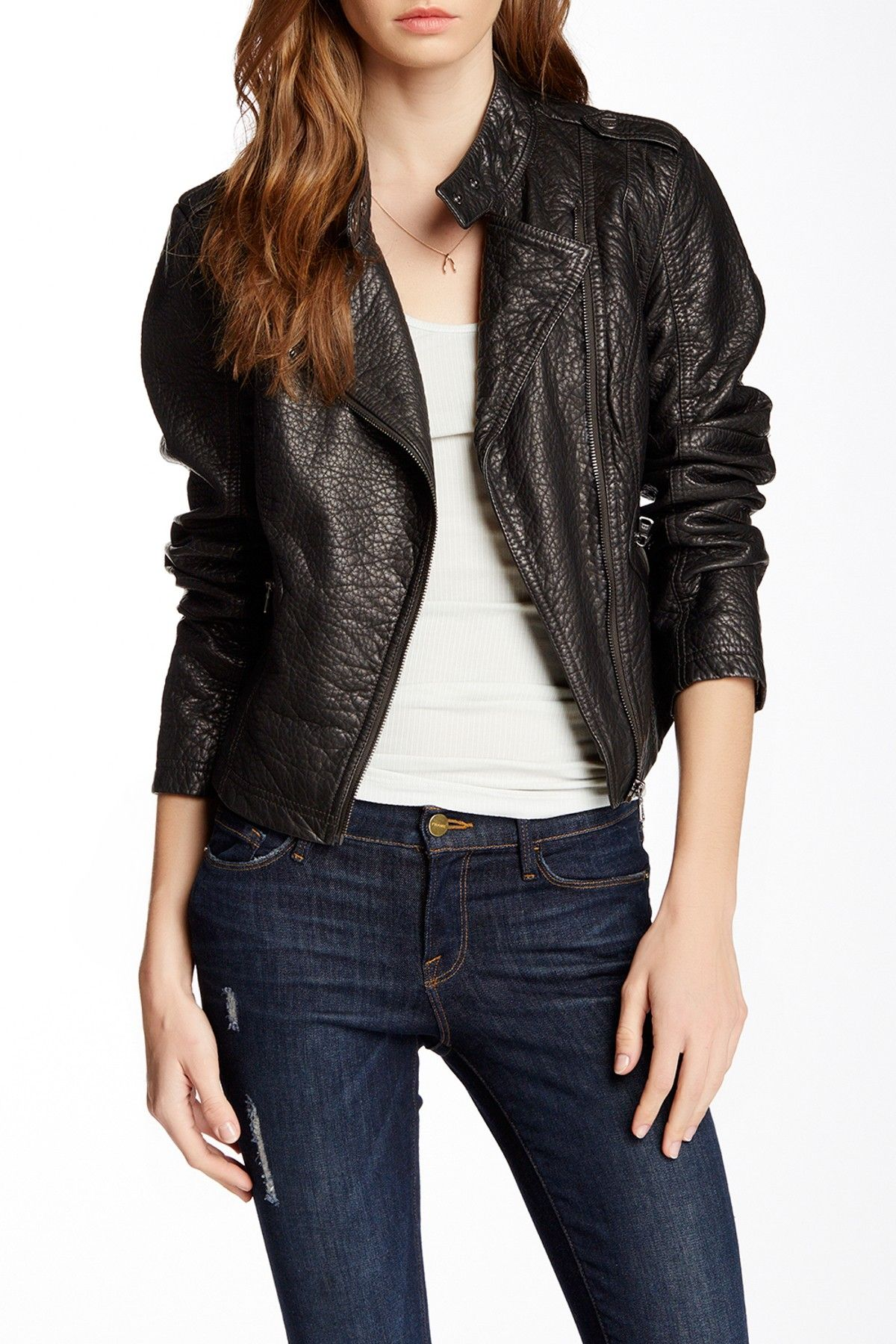 Skylar Faux Leather Jacket by Truth Of Touch on nordstrom