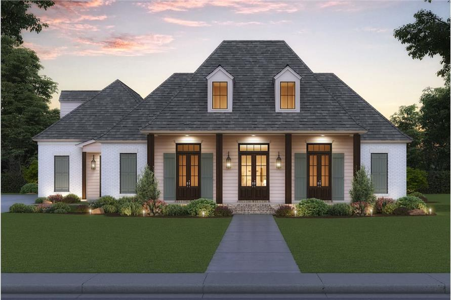 Acadian Home 4 Bedrms 4 Baths 2863 Sq Ft Plan 206 1038