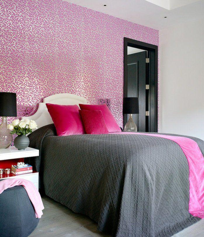 1001 Conseils Et Idees Pour Une Chambre En Rose Et Gris Sublime Decoration Chambre Gris Deco Chambre Grise Deco Chambre