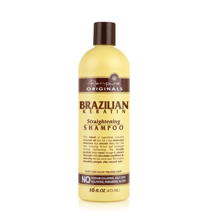 Renpure Originals Brazilian Keratin Straightening Shampoo 16 Oz Brazilian Keratin Drugstore Shampoo Silky Smooth Hair