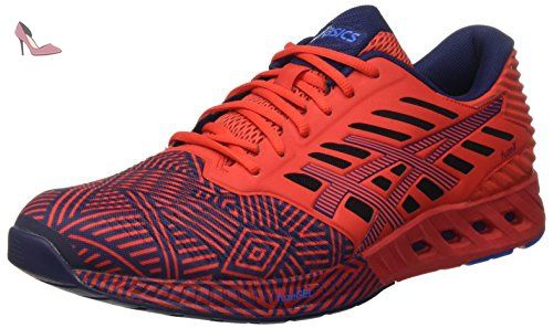 Asics Fuzex, Sneakers Basses Homme, Multicolore Blue/Indigo Blue/Hot Orange, 42 EU