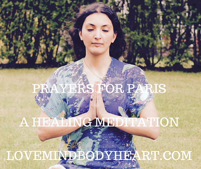 In light of recent events around the world, not just in Paris, I wanted to share a meditation which always helps me through challenging times. When I see us hurting each other – it hurts deep into the core of who we are. We are all parts of the universe being expressed as humans, so when we hurt each other we hurt ourselves.