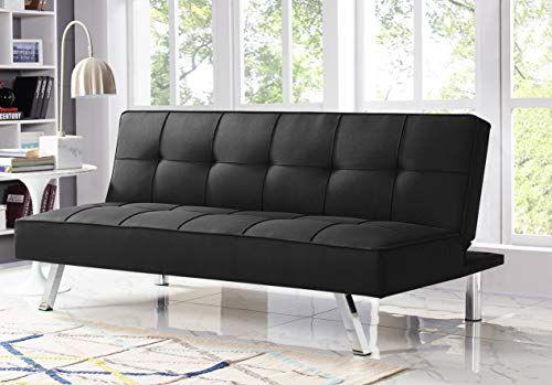 Serta RNE-3S-BK-SET Rane Collection Convertible Sofa, L66.1 x W33.1 x H29.5, Black Serta