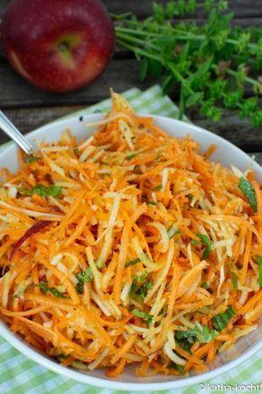 Photo of Carrot and kohlrabi salad with apple – raw vegetable salad – Katha-cooks!