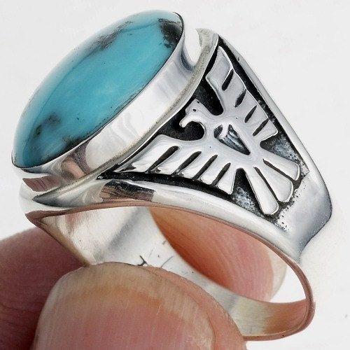 Size 10 Navajo Indian Hand Made Silver Band Ring by Verna Tahe!