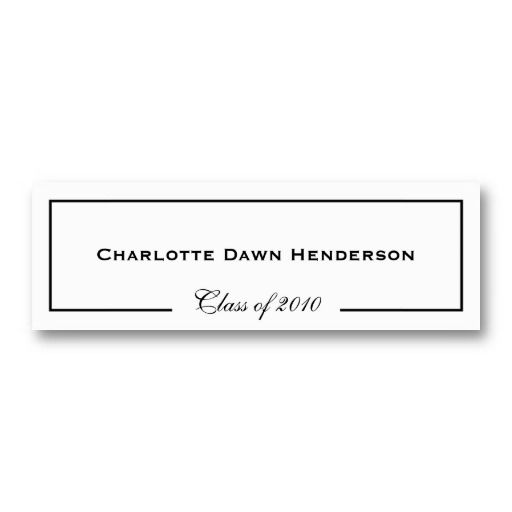 Graduation announcement name card border class of business card graduation announcement name card border class of business card template cheaphphosting