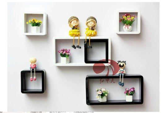 wall shelf racks home decor ideas plaid wall mount shelf compartment