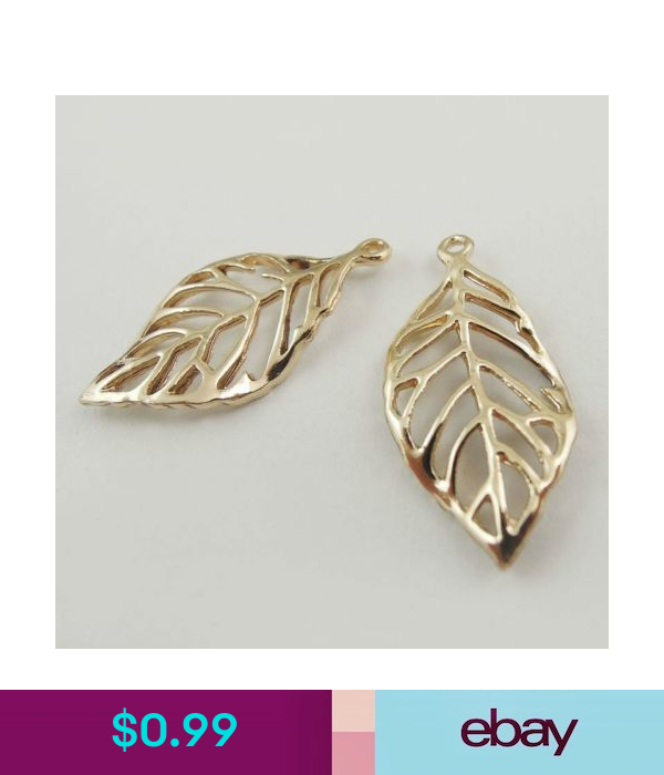 37587 Rose Golden Vintage Alloy Hollow Tree Leaf Pendant Charms 6PCS Clearance