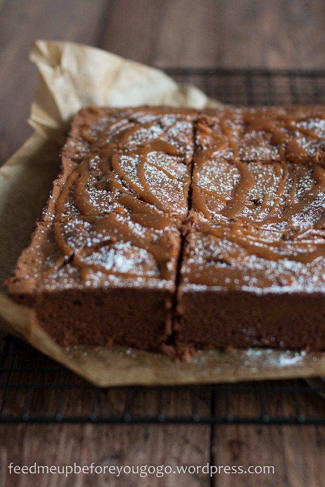 zuckerschock auf amerikanisch salted caramel brownies nach jamie oliver rezepte caramel. Black Bedroom Furniture Sets. Home Design Ideas