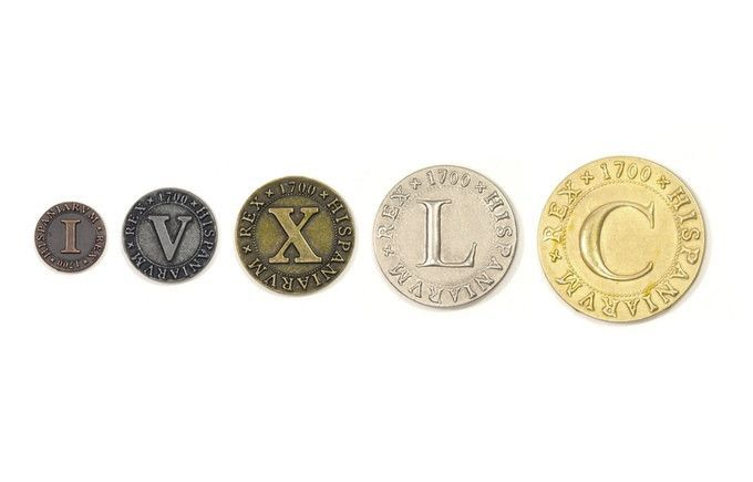 Metal Coins : Roman Numerals (set of 50) | Products | Coins