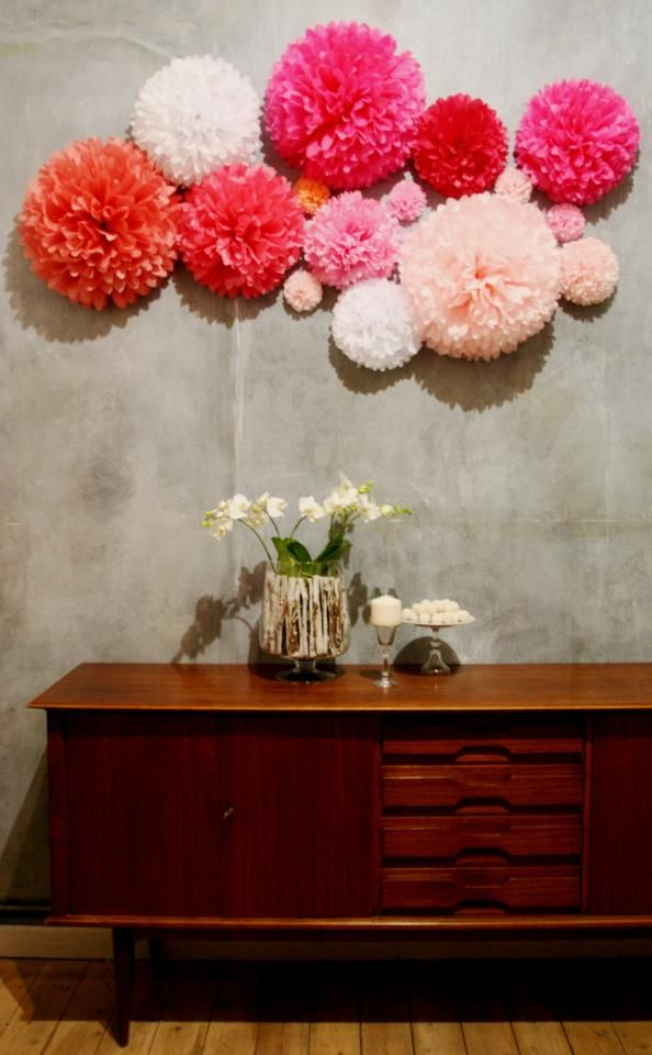 Image Result For Wall Decoration Pom Pom Flower Wall
