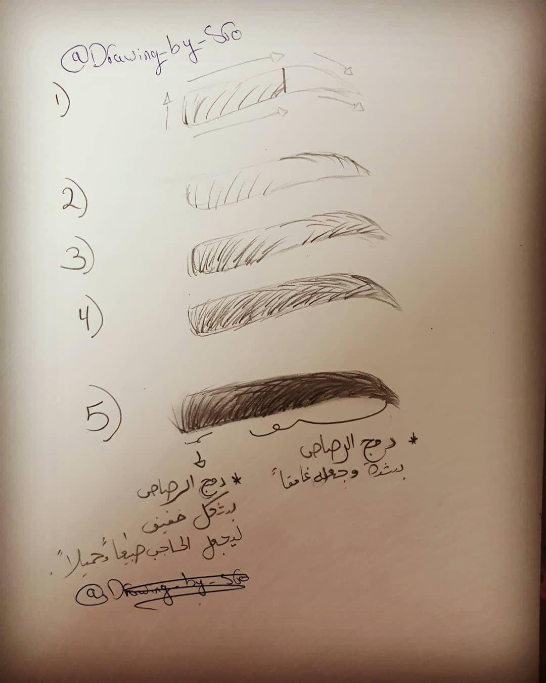طريقة رسم الحاجب ب5 خطوات وكثير سهل رسمهن مش صعب زي ما بتفكروا ومع المحاولة الدائمة راح تتقنوا الرسم من How To Draw Anime Eyes Pencil Art Drawings Anime Eyes