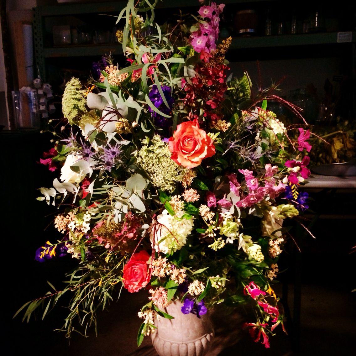 mixed flowers centerpiece