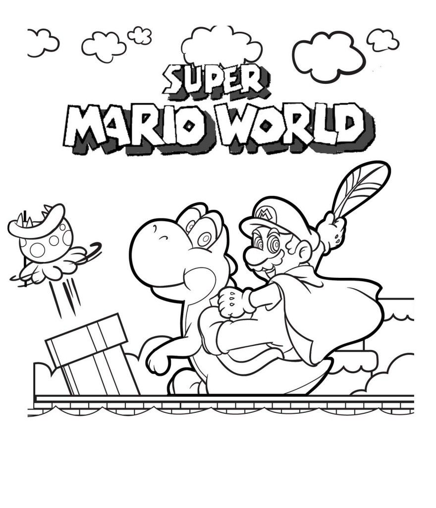 Free Printable Mario Coloring Pages For Kids  Malvorlagen für