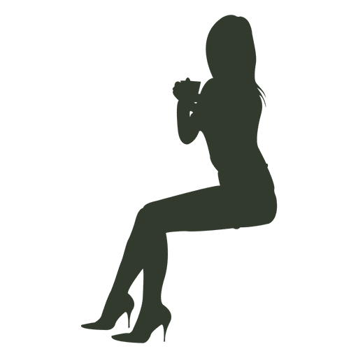 Woman Sitting Silhouette Preparing Ad Aff Aff Sitting Silhouette Preparing Woman Silhouette Human Silhouette Graphic Image