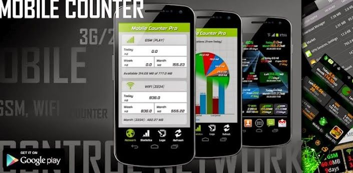 Mobile Counter Pro 3G, WIFI v3.5 Apk Download For