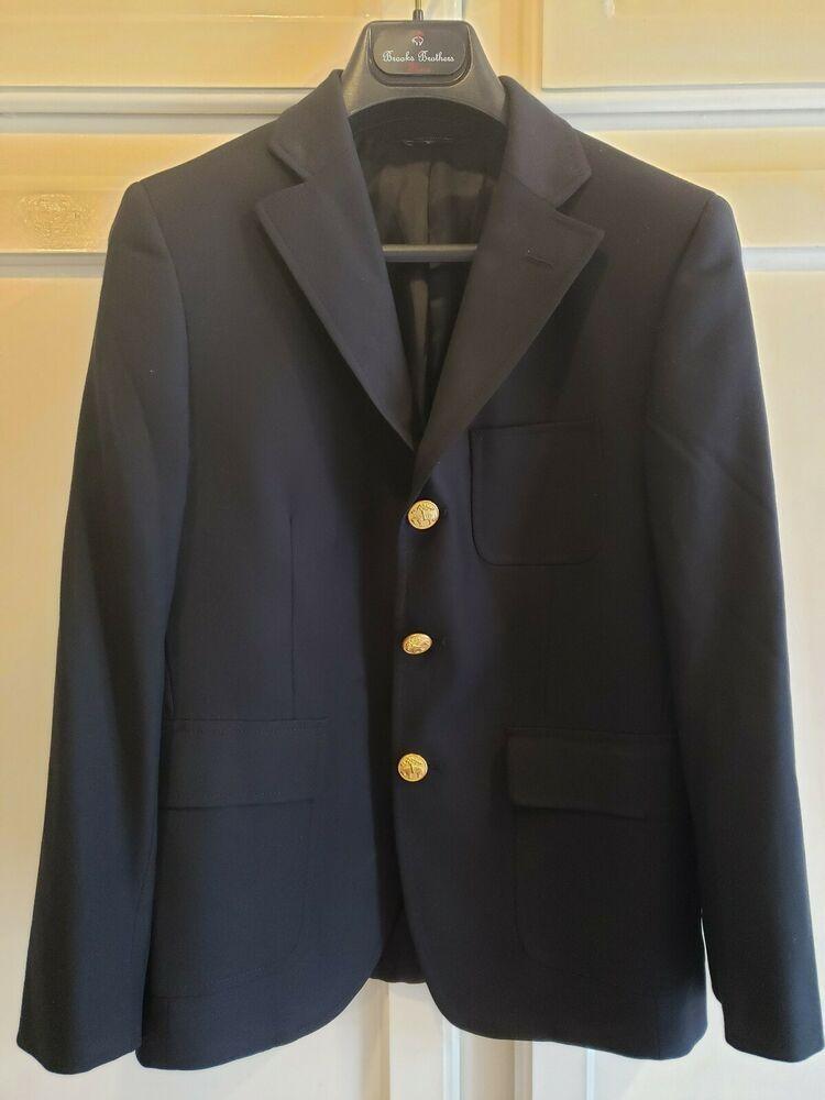 8034e9cbea74 eBay  Sponsored Brooks Brothers Boys Navy Blazer Jacket Loro Piana ...
