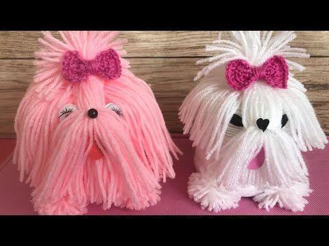 Yarn Dog/yarn Puppies/Best out of waste yarn.