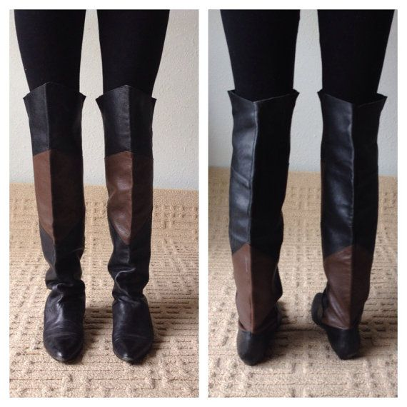 80s Over The Knee Boots, Flat Boots, Tall Boots, Thigh High ...
