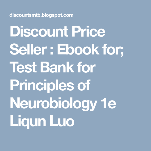 Discount Price Seller Ebook For Test Bank For Principles Of