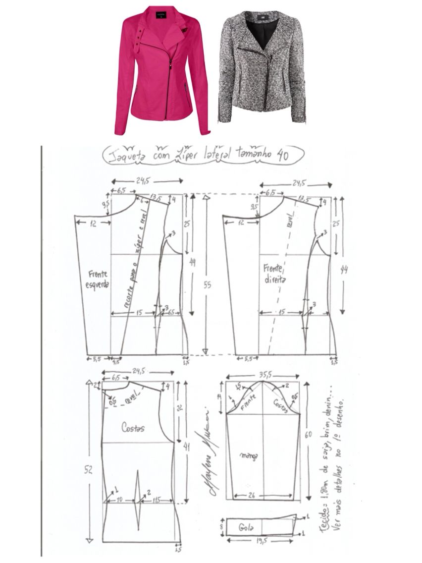 Moto Jacket Pattern Custom Inspiration Design