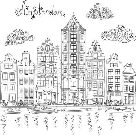 Resultado De Imagem Para Amsterdam Desenho Desenhos Arte