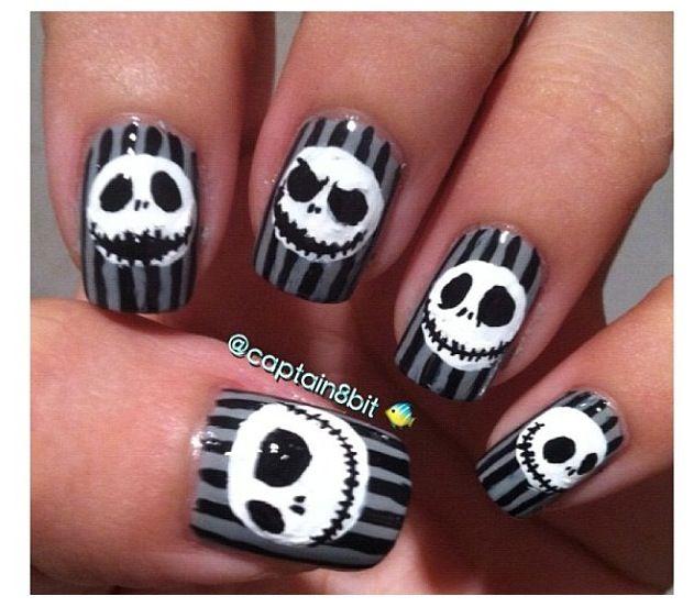 Jack Skellington nails | Nails | Pinterest | Jack skellington ...
