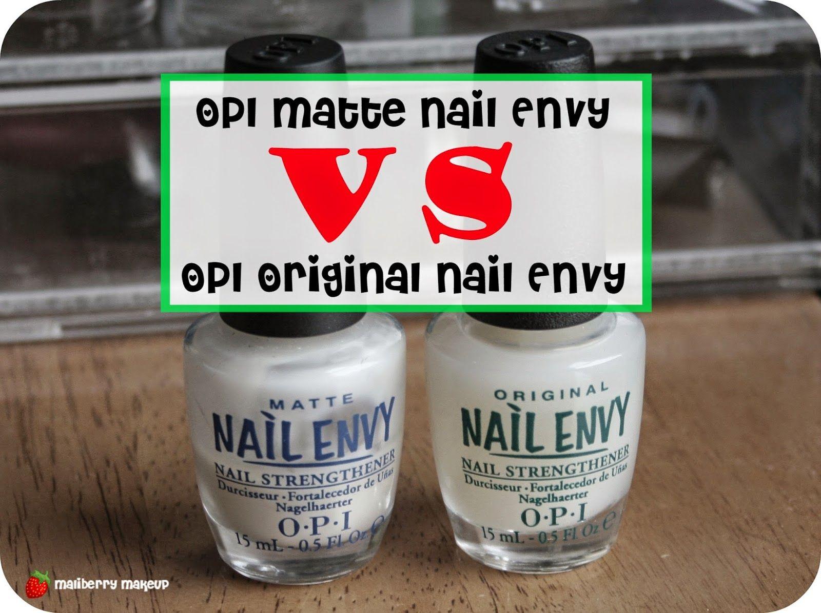 OPI Matte Nail Envy VS Original Nail Envy Review | Nials | Pinterest ...
