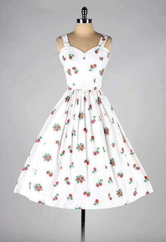 Vintage 1950 \' nin elbisesi ♥♥♥ Vintage 1950\'s dress | # Stil ...