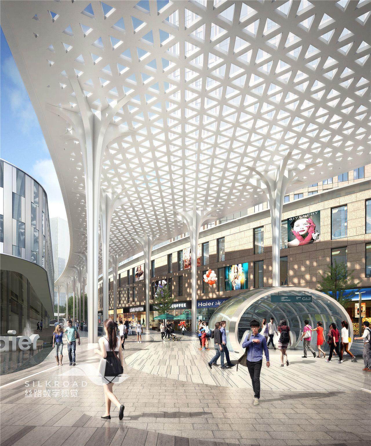 Pin von silkroad architecture visualization auf shopping for Innenraum design berlin