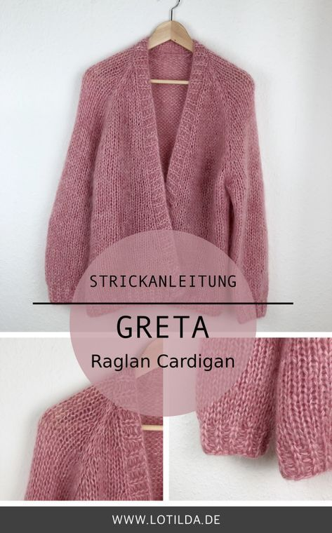 Photo of GRETA – Oversize Raglan Cardigan mit Blende • LOTILDA