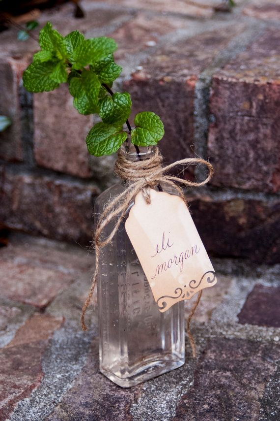 Wedding Table Setting - Rustic Name Cards / Place Cards - Hand ...