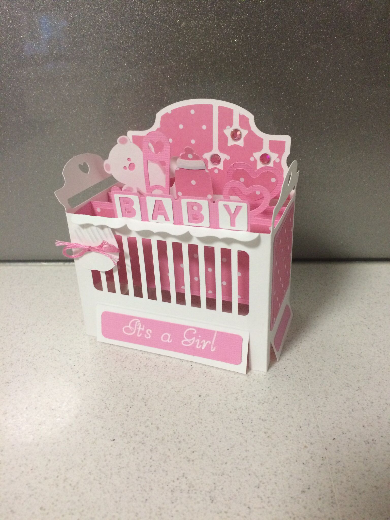 Baby Crib Cot Box Card Pattern From Svg Cuts Baby Pinterest