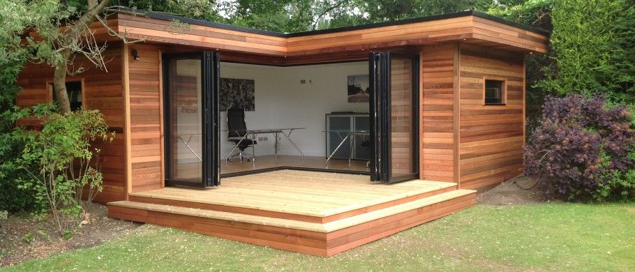L Shaped Garden Office Want One Garden Rooms In 2019