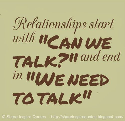 how to start relationship talk