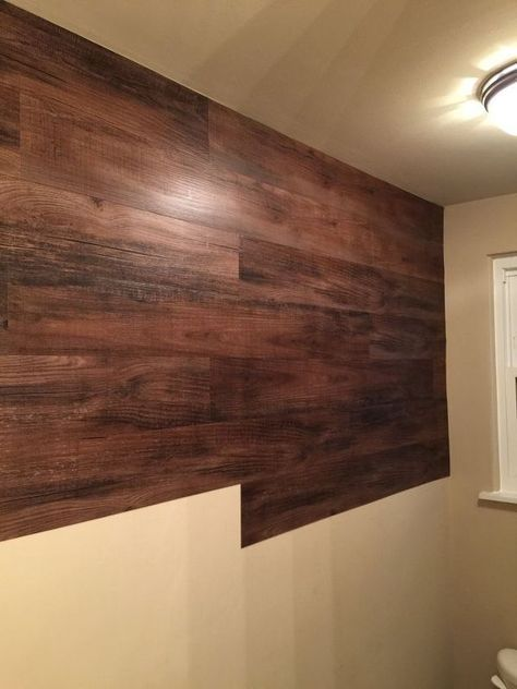 Faux Wood Wall With Images Wood Wall Bathroom Faux Wood Tiles Wood Plank Walls