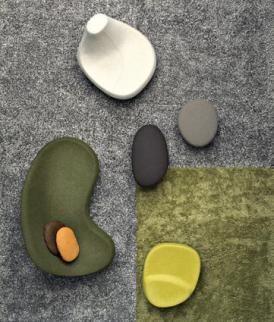 "Not pebbles, but sofas.  ""Saruyama Islands"", by Toshiyuki Kita, from Moroso."