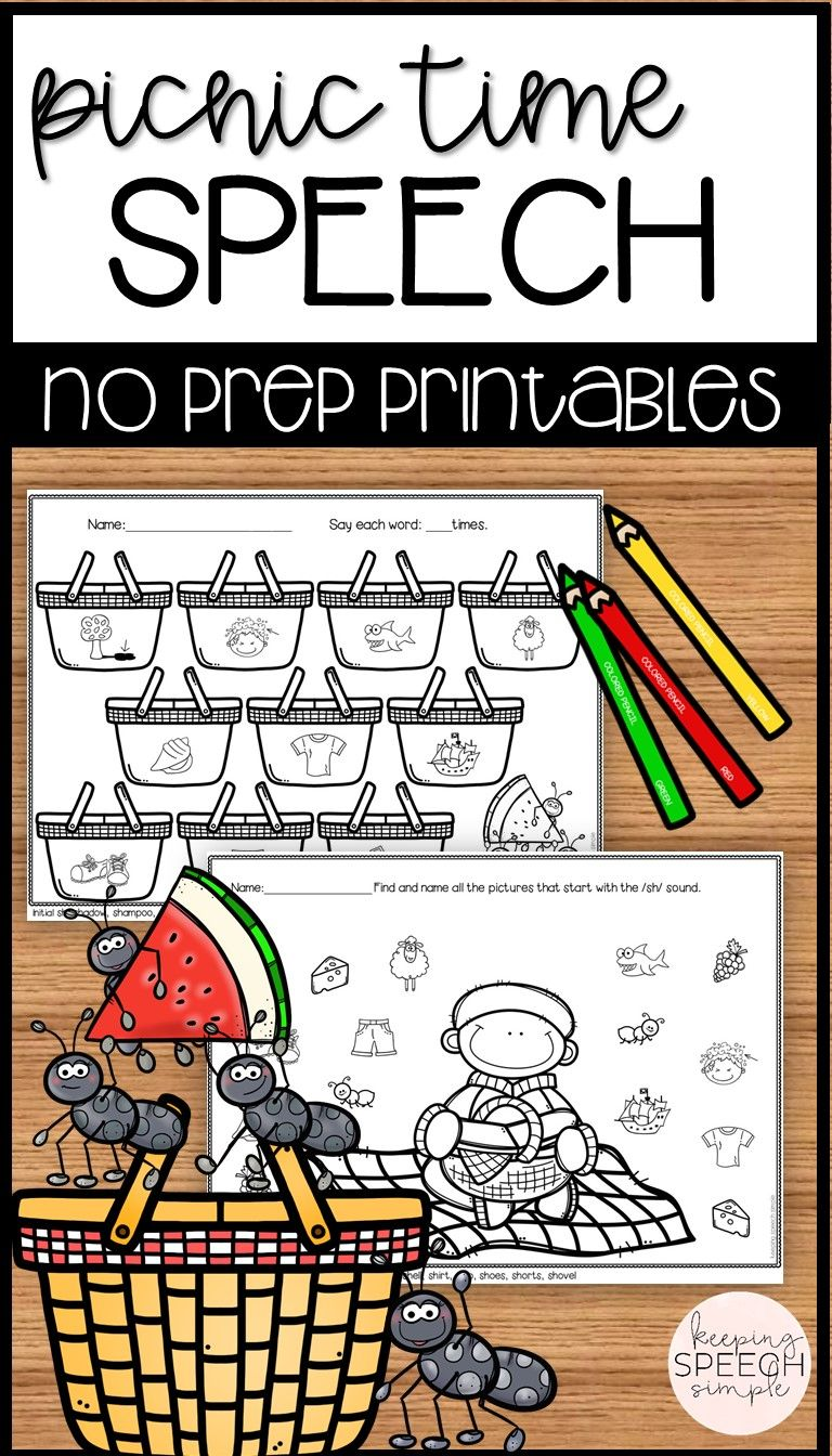 Who Couldn T Use More No Prep Prinatables To Keep On Hand In The Speech Room These Fun Picnic Themed Sheet Spring Speech Therapy Speech Crafts Speech Therapy [ 1344 x 768 Pixel ]