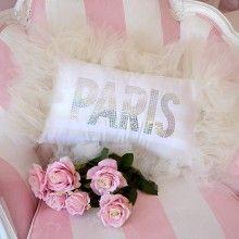 Shabby French Chic Tulle Cream Paris Boudoir Pillow