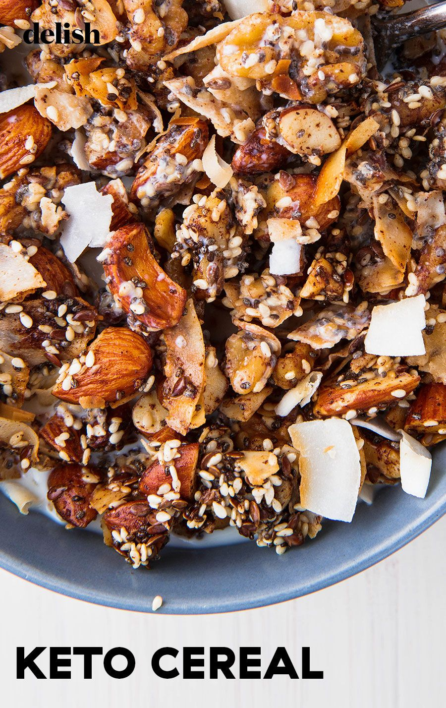 You'll Want To Eat Keto Cereal All Day Everyday   Recipe   Keto cereal, Cereal recipes, Food