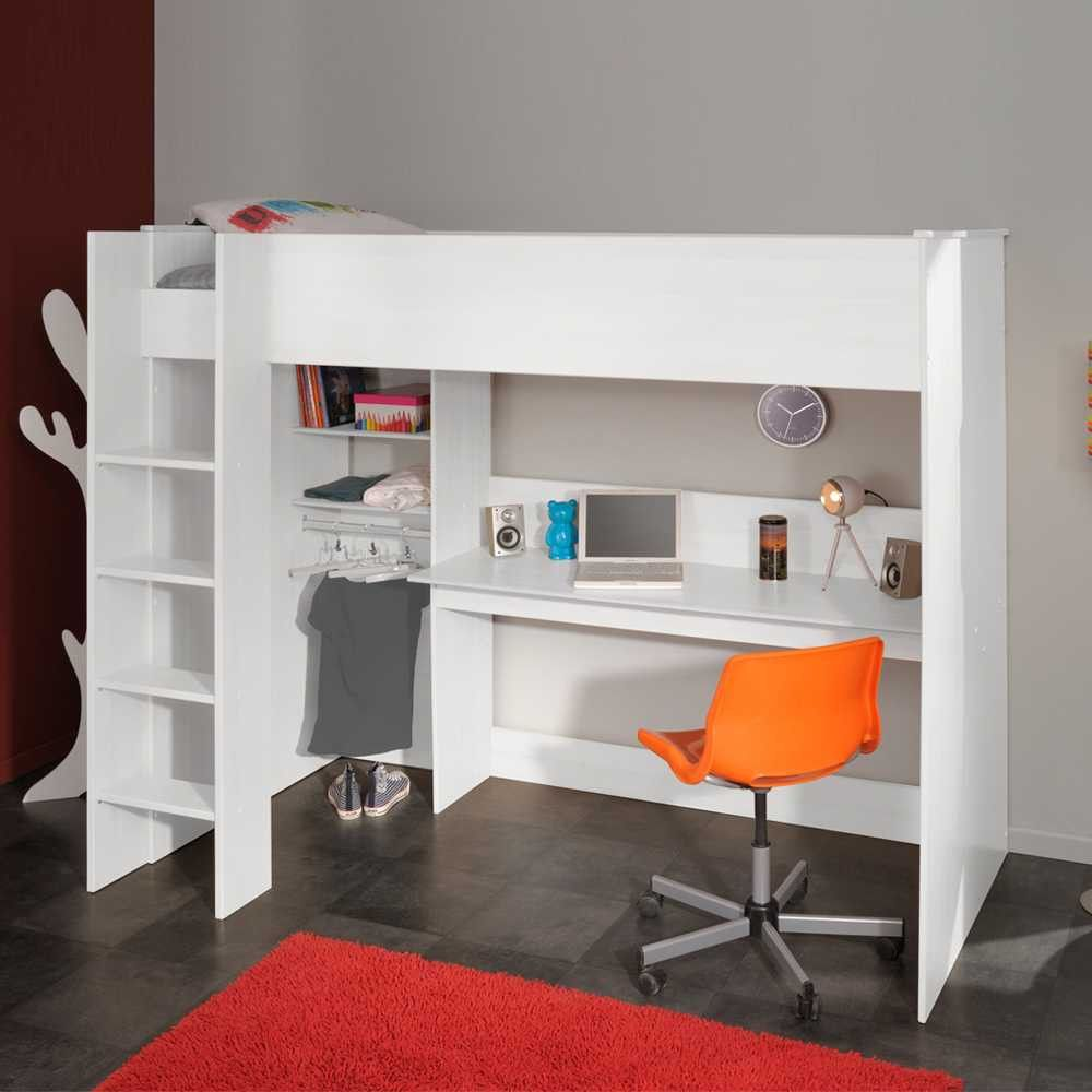 Hochbett Jill mit Schreibtisch | Annelie hochbett ideen | Pinterest ...