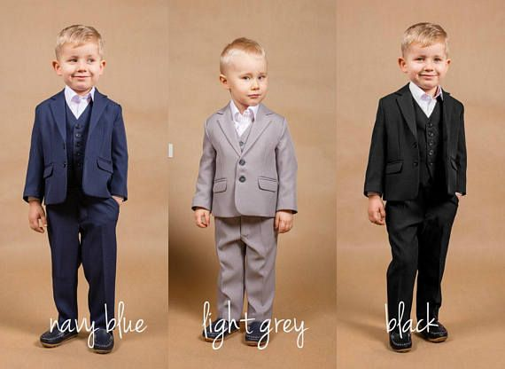 3990248b60c2c1 Wedding navy suit Ring bearer outfit Wedding grey suit Wedding Boys Wedding  Suits, Grey Suit