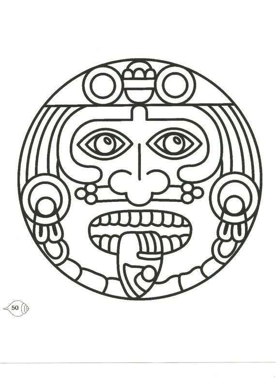 Aztec, Mexico, Mexican Symbolic Image printed in your choice of 11 ...