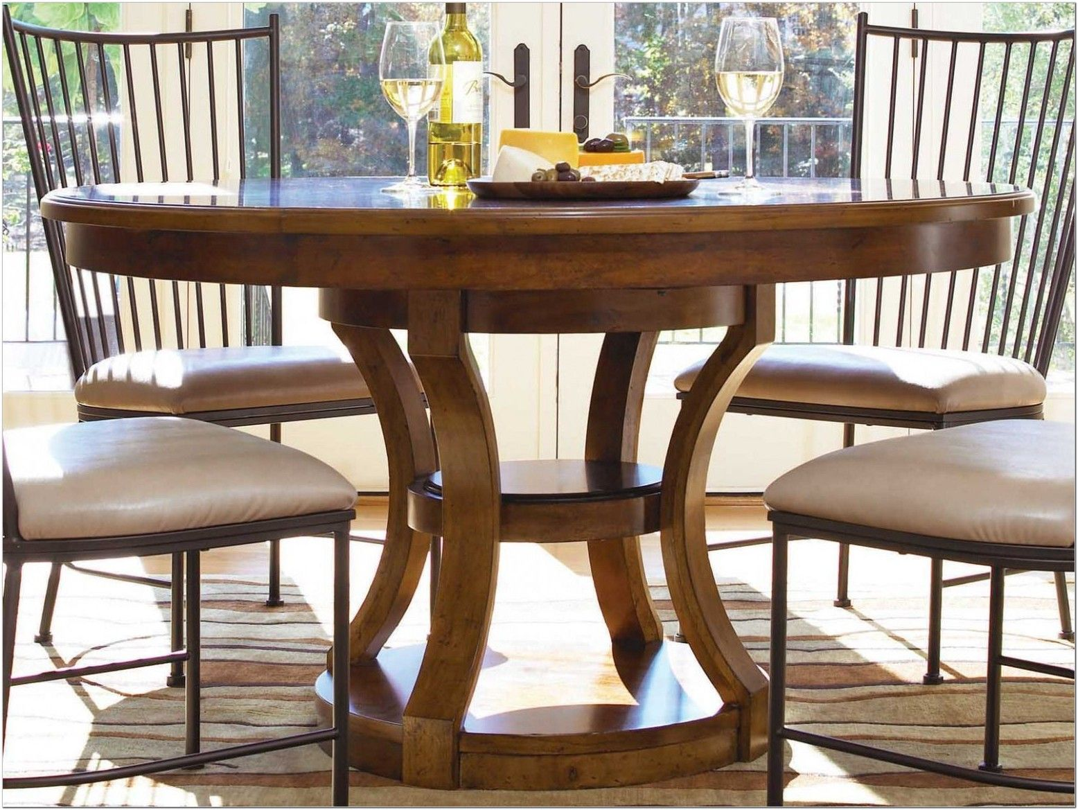 54 Inch Round Pedestal Dining Table Set Pedestal Dining Table