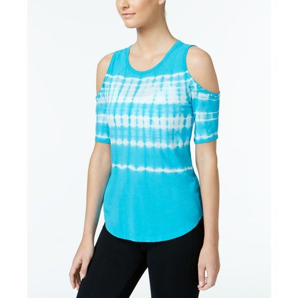 69ff3d67362dc Calvin Klein Performance Tie-Dyed Cold-Shoulder Top ( 35) ❤ liked ...