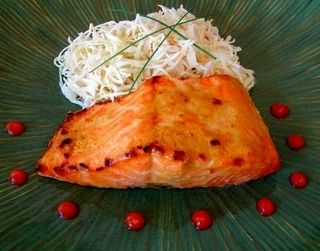 Food Wishes Video Recipes: Broiled Salmon Glazed with Dijon and Rice Vinegar, circa 1988 - Do two ingredients count as a recipe?