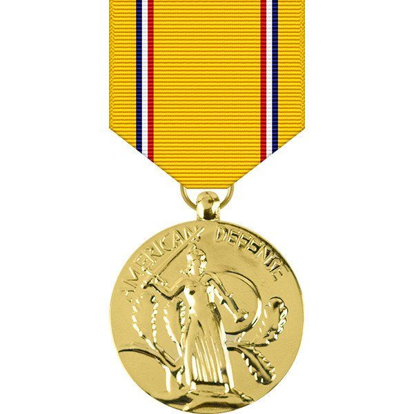 American Defense Anodized Medal - WW II   Anodized Military