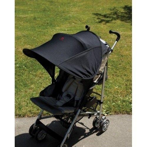 Protector solar silla paseo bebe universal bolsillos laterales negra spf 50 ebay bebe - Protector coche silla bebe ...