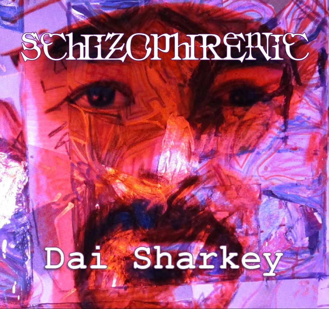 my Schizophrenic album cover painted by Sheree Murphy